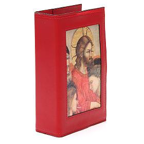 Copribreviario 4 vol. pelle rossa Giotto Ultima Cena Pictografia s4