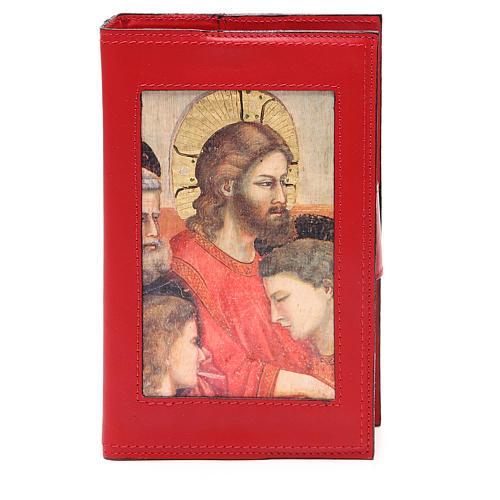Copribreviario 4 vol. pelle rossa Giotto Ultima Cena Pictografia 1