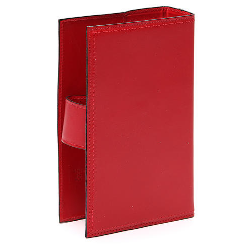 Copribreviario 4 vol. pelle rossa Giotto Ultima Cena Pictografia 3
