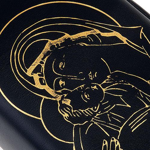 Copertina vol. unico pelle nera Pantocratore Madonna oro 3