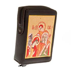 Copri breviario vol. unico immagine Sacra famiglia rossa s1
