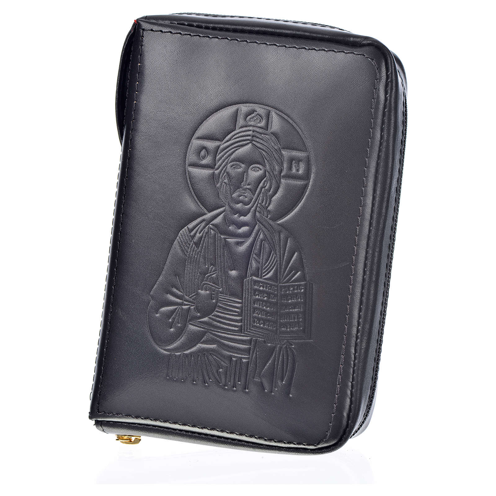 Custodia pelle nera lit. 4 vol. Pantocratore Madonna 4