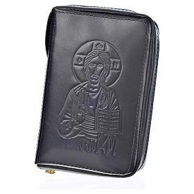 Custodia pelle nera lit. 4 vol. Pantocratore Madonna s2