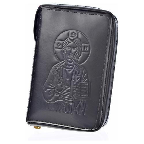 Custodia pelle nera lit. 4 vol. Pantocratore Madonna 11