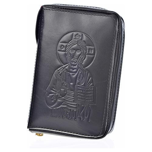 Custodia pelle nera lit. 4 vol. Pantocratore Madonna 2