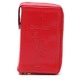 Couverture Lit. Heures vol. unique cuir rouge croix IHS fermeture éclair s1