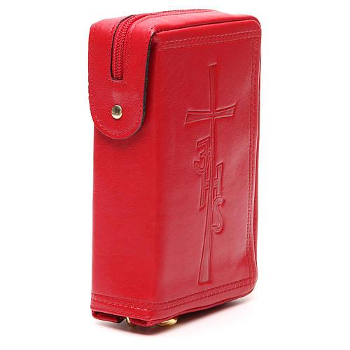 Couverture Lit. Heures vol. unique cuir rouge croix IHS fermeture éclair 4