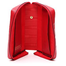 Custodia Lit Ore vol unico pelle rossa croce IHS zip s6