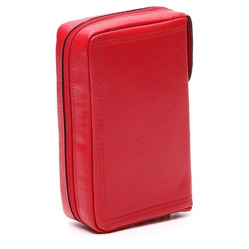Custodia Lit Ore vol unico pelle rossa croce IHS zip 3
