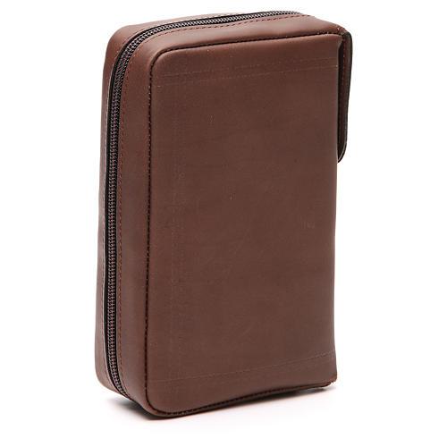 Couverture Lit. Vol. unique cuir brun Ancre Salut fermeture éclair 3