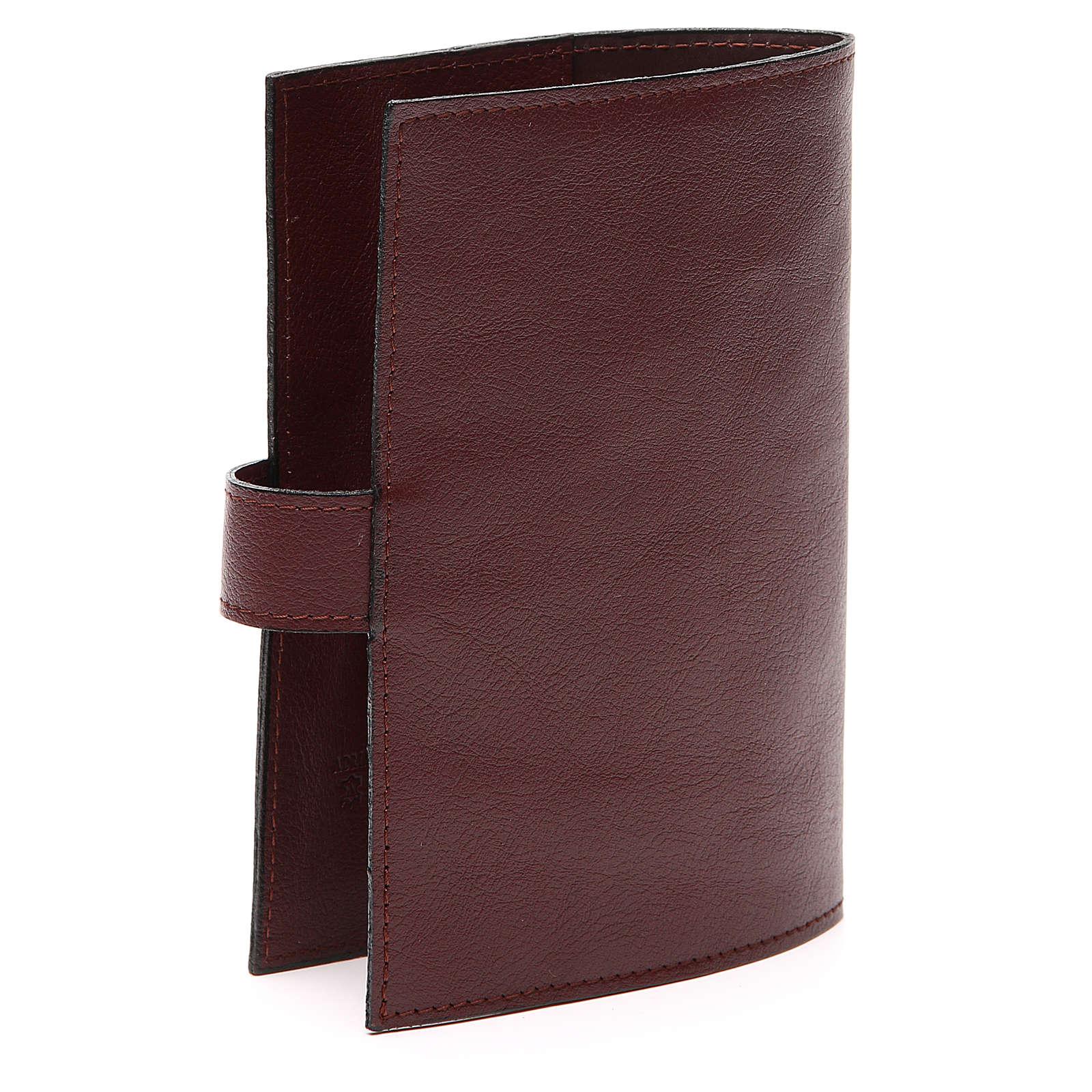 Couv. Lit. 4 vol. cuir brun foncé Christ Miséricordieux 4