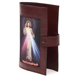 Couv. Lit. 4 vol. cuir brun foncé Christ Miséricordieux s2