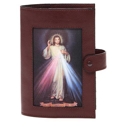 Couv. Lit. 4 vol. cuir brun foncé Christ Miséricordieux 1