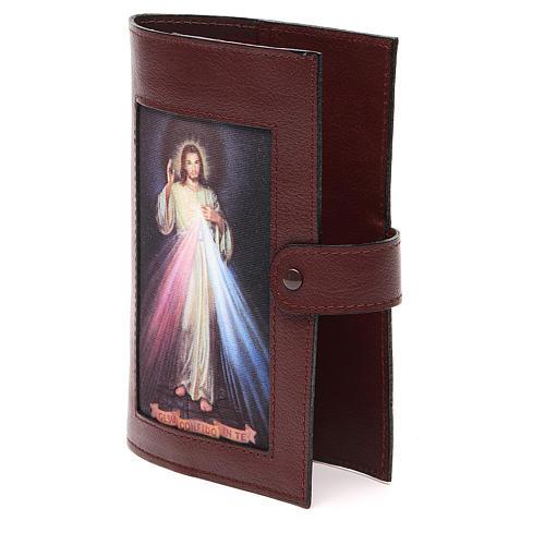 Couv. Lit. 4 vol. cuir brun foncé Christ Miséricordieux 2
