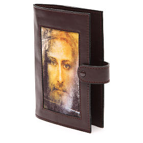 Couv. Lit. Heures 4 vol. cuir brun foncé Visage Christ s2