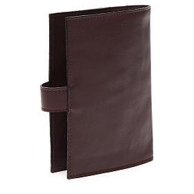 Couv. Lit. Heures 4 vol. cuir brun foncé Visage Christ s3