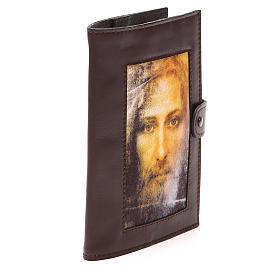Couv. Lit. Heures 4 vol. cuir brun foncé Visage Christ s4