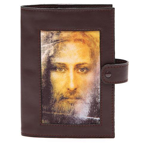 Couv. Lit. Heures 4 vol. cuir brun foncé Visage Christ 1