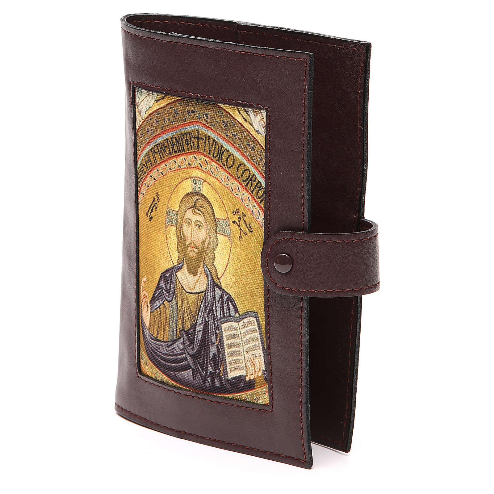 Couv. Lit. Heures 4 vol. cuir brun foncé Christ 4