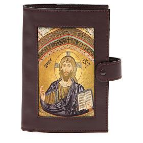 Couv. Lit. Heures 4 vol. cuir brun foncé Christ s1