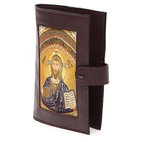 Couv. Lit. Heures 4 vol. cuir brun foncé Christ 2