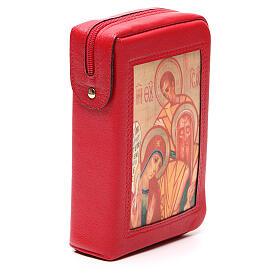 Capa Liturgia Horas 4 vol. vermelha Sagrada Família Neocatecumenal fecho de correr s4