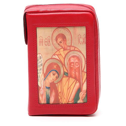 Capa Liturgia Horas 4 vol. vermelha Sagrada Família Neocatecumenal fecho de correr 1