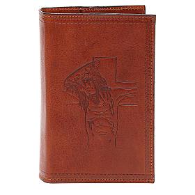 Custodia 4 Vol. marrone pelle Cristo impresso s1
