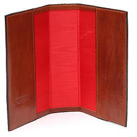 Couverture 4 vol. brun cuir Croix imprimée s5