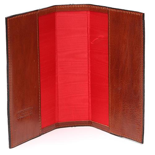 Couverture 4 vol. brun cuir Croix imprimée 5