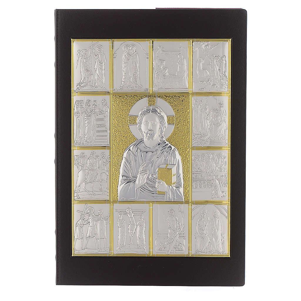 Okładka na ewangeliarz Pantokrator posrebrzany pozłacany 4