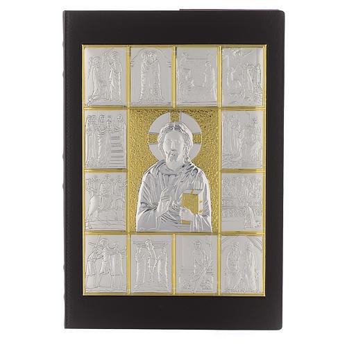 Okładka na ewangeliarz Pantokrator posrebrzany pozłacany 1
