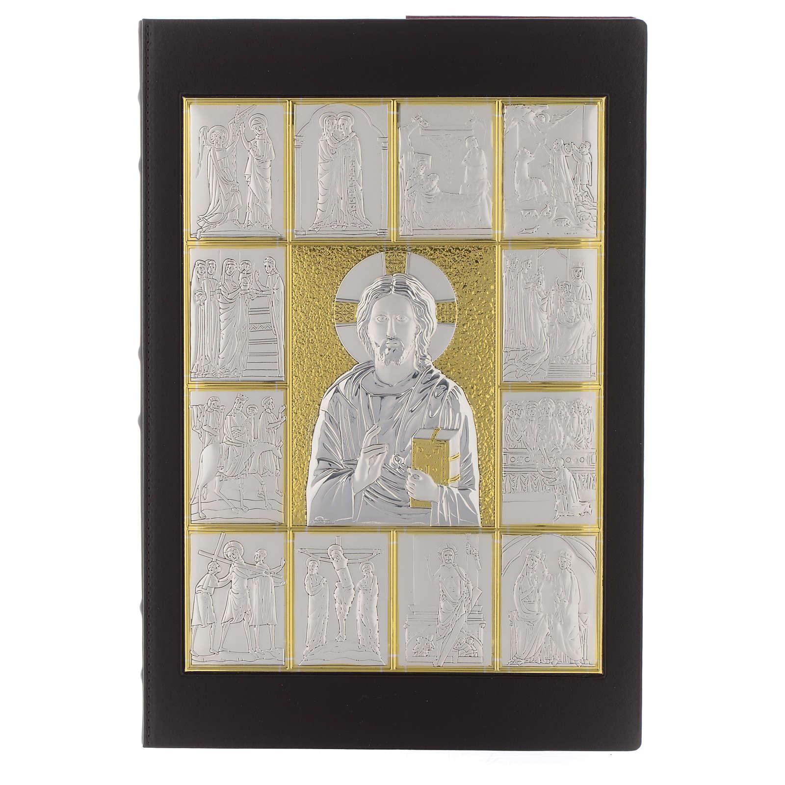 Capa de Evangelíario Pantocrator prateado dourado 4