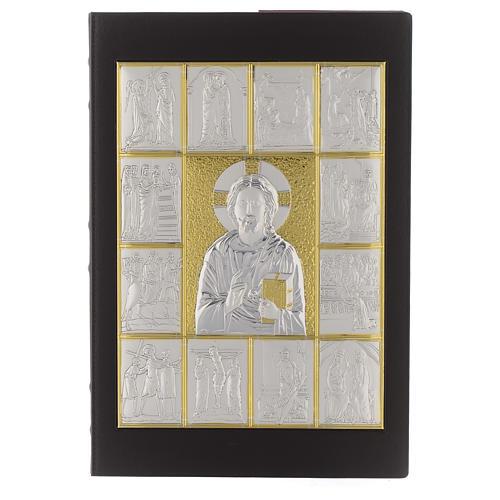 Capa de Evangelíario Pantocrator prateado dourado 1