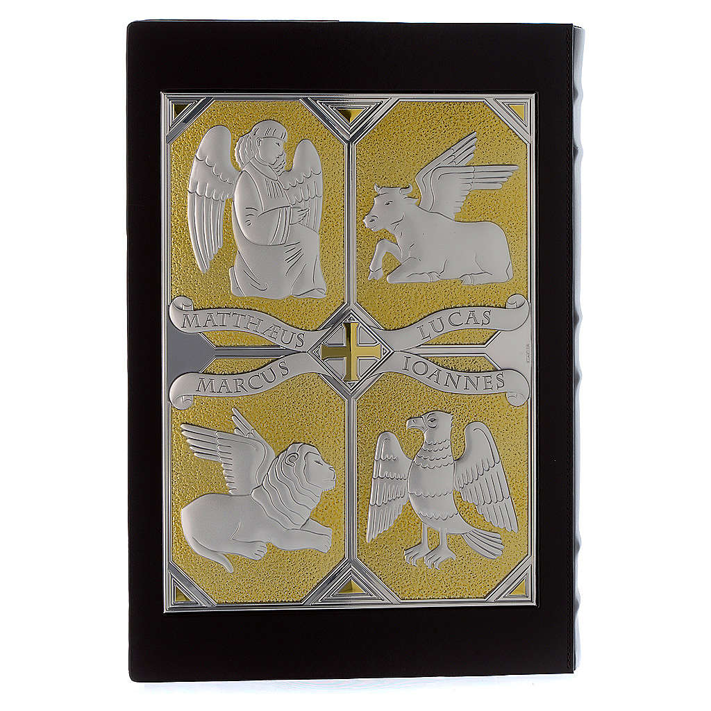 Cover for Gospel Book, gold and silver Christ and Evangelists 4