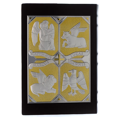 Cover for Gospel Book, gold and silver Christ and Evangelists 2