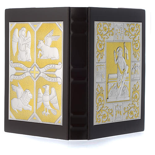 Cover for Gospel Book, gold and silver Christ and Evangelists 3