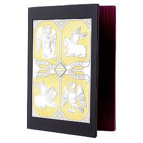 Einband Evangelium 4 Schreibern Evangelium silbrig vergoldet s3