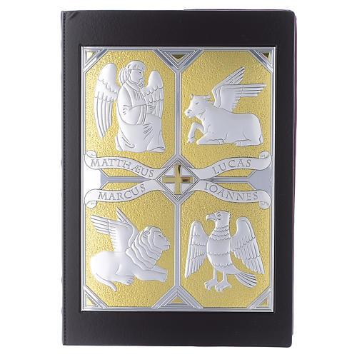 Einband Evangelium 4 Schreibern Evangelium silbrig vergoldet 1