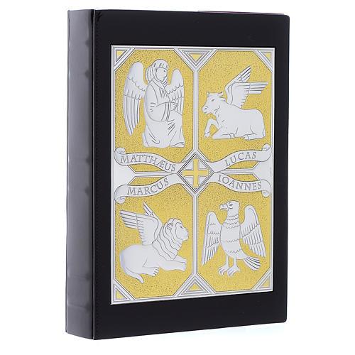 Einband Evangelium 4 Schreibern Evangelium silbrig vergoldet 2