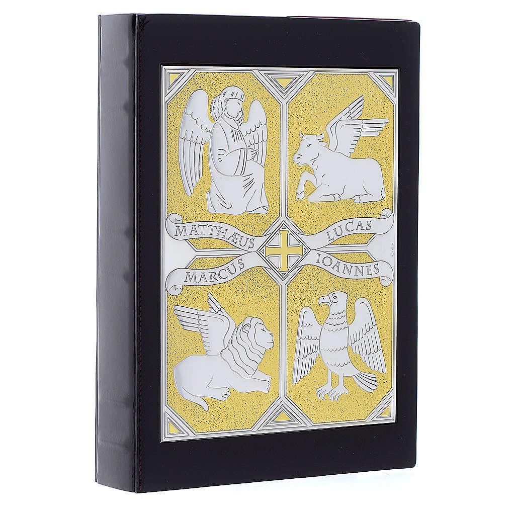 Cover for Gospel Book, gold and silver 4 Evangelists 4