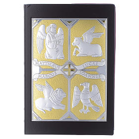 Tapa evangeliario 4 evangelistas plata y oro s1
