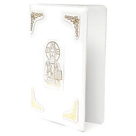 Couverture Évangéliaire cuir blanc finition extra Pantocrator s2