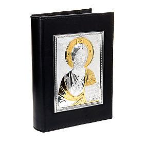 Couverture lectionnaire, plaque Jésus, argent, or s1