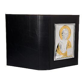 Couverture lectionnaire, plaque Jésus, argent, or s4