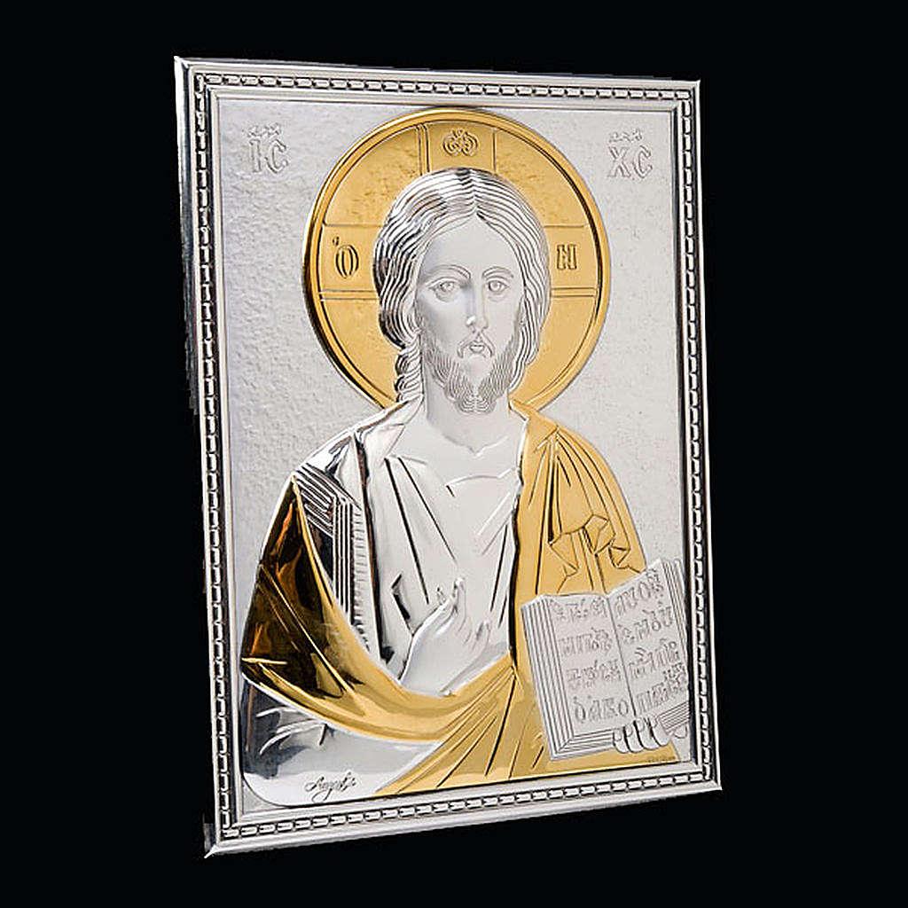 Copri lezionario placca Gesù argento e oro 4