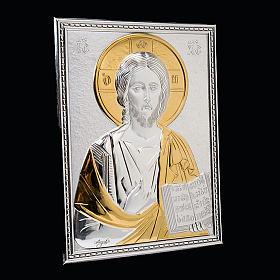 Copri lezionario placca Gesù argento e oro s3