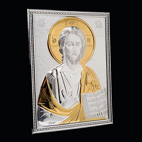 Copri lezionario placca Gesù argento e oro 3