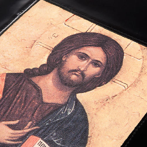 Lectionary cover, black leather Christ Pantocrator 5
