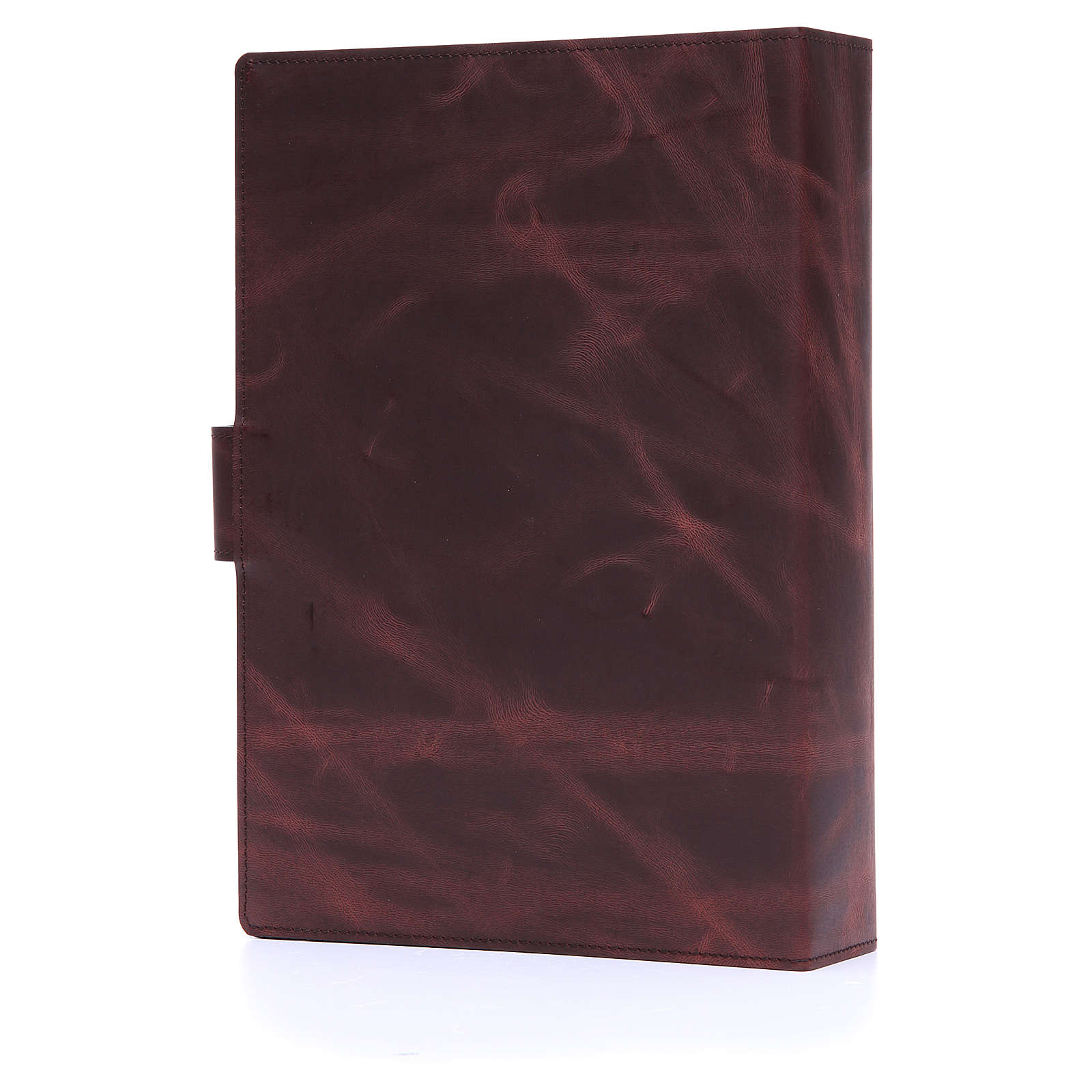 Lectionary cover with Snap in Silver Leather 4